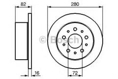 Комплект тормозных дисков BOSCH 0 986 479 065 (2 шт.)