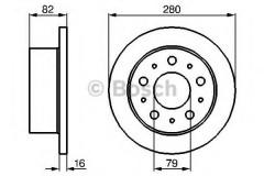 Комплект тормозных дисков BOSCH 0 986 479 066 (2 шт.)