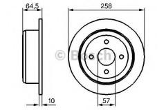 Комплект тормозных дисков BOSCH 0 986 479 220 (2 шт.)