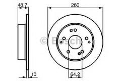 Комплект тормозных дисков BOSCH 0 986 479 225 (2 шт.)