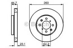 Комплект тормозных дисков BOSCH 0 986 479 226 (2 шт.)