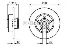 Комплект тормозных дисков BOSCH 0 986 479 271 (2 шт.)