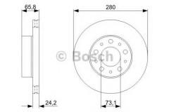 Комплект тормозных дисков BOSCH 0 986 479 297 (2 шт.)