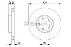Комплект тормозных дисков BOSCH 0 986 479 307 (2 шт.)
