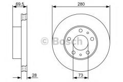 Комплект тормозных дисков BOSCH 0 986 479 313 (2 шт.)