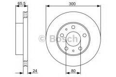 Комплект тормозных дисков BOSCH 0 986 479 314 (2 шт.)