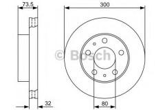 Комплект тормозных дисков BOSCH 0 986 479 315 (2 шт.)