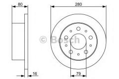 Комплект тормозных дисков BOSCH 0 986 479 316 (2 шт.)