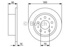 Комплект тормозных дисков BOSCH 0 986 479 317 (2 шт.)