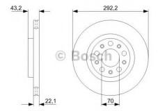 Комплект тормозных дисков BOSCH 0 986 479 327 (2 шт.)