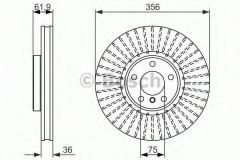 Комплект тормозных дисков BOSCH 0 986 479 349 (2 шт.)