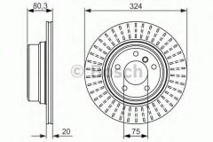 Комплект тормозных дисков BOSCH 0 986 479 350 (2 шт.)