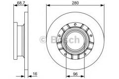 Комплект тормозных дисков BOSCH 0 986 479 389 (2 шт.)
