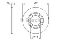 Комплект тормозных дисков BOSCH 0 986 479 390 (2 шт.)