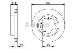 Комплект тормозных дисков BOSCH 0 986 479 392 (2 шт.)