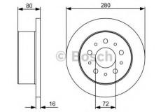 Комплект тормозных дисков BOSCH 0 986 479 399 (2 шт.)
