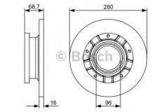 Комплект тормозных дисков BOSCH 0 986 479 401 (2 шт.)