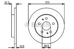 Комплект тормозных дисков BOSCH 0 986 479 432 (2 шт.)