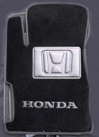 Коврики в салон для Honda Civic 5D '12- текстильные, черные (Люкс)