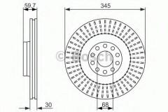 Комплект тормозных дисков BOSCH 0 986 479 589 (2 шт.)