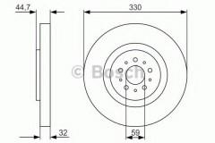 Комплект тормозных дисков BOSCH 0 986 479 593 (2 шт.)