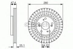 Комплект тормозных дисков BOSCH 0 986 479 625 (2 шт.)