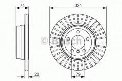 Комплект тормозных дисков BOSCH 0 986 479 671 (2 шт.)