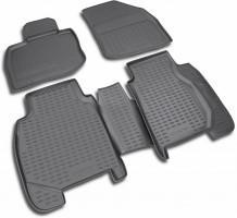 Полиуретановые коврики в салон для HONDA Civic 5D '06-12 (Novline / Element) чёрные