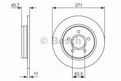 Комплект тормозных дисков BOSCH 0 986 479 763 (2 шт.)