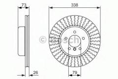 Комплект тормозных дисков BOSCH 0 986 479 773 (2 шт.)