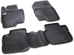 Коврики в салон 3D для Mitsubishi Colt '09-10 полиуретановые, черные (Novline / Element)