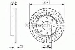 Комплект тормозных дисков BOSCH 0 986 479 832 (2 шт.)