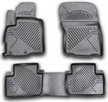 Коврики в салон для Peugeot 4007 '07-12 полиуретановые, черные (Novline / Element)