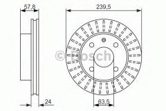 Комплект тормозных дисков BOSCH 0 986 479 836 (2 шт.)