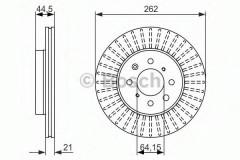 Комплект тормозных дисков BOSCH 0 986 479 838 (2 шт.)