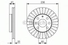 Комплект тормозных дисков BOSCH 0 986 479 840 (2 шт.)