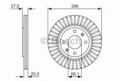 Комплект тормозных дисков BOSCH 0 986 479 849 (2 шт.)