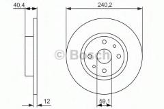 Комплект тормозных дисков BOSCH 0 986 479 858 (2 шт.)