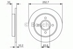 Комплект тормозных дисков BOSCH 0 986 479 859 (2 шт.)