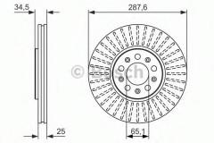 Комплект тормозных дисков BOSCH 0 986 479 914 (2 шт.)