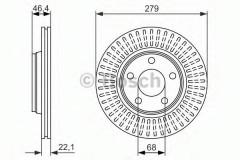 Комплект тормозных дисков BOSCH 0 986 479 916 (2 шт.)