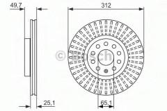 Комплект тормозных дисков BOSCH 0 986 479 932 (2 шт.)