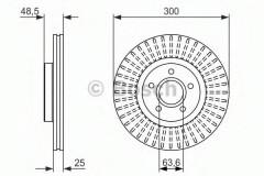 Комплект тормозных дисков BOSCH 0 986 479 956 (2 шт.)
