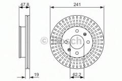 Комплект тормозных дисков BOSCH 0 986 479 962 (2 шт.)