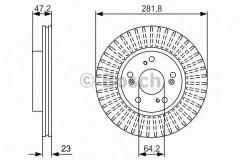 Комплект тормозных дисков BOSCH 0 986 479 981 (2 шт.)