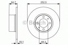 Комплект тормозных дисков BOSCH 0 986 479 988 (2 шт.)