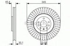Комплект тормозных дисков BOSCH 0 986 479 A24 (2 шт.)