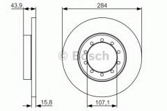 Комплект тормозных дисков BOSCH 0 986 479 A34 (2 шт.)
