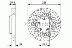 Комплект тормозных дисков BOSCH 0 986 479 A49 (2 шт.)