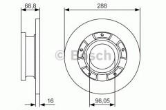 Комплект тормозных дисков BOSCH 0 986 479 A50 (2 шт.)